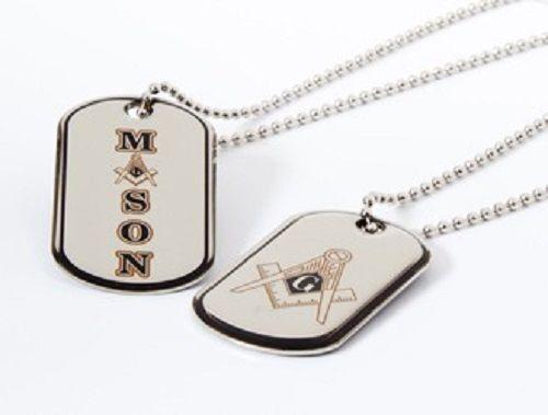 Masonic Reversible Dog Tag Mason Necklace - New!