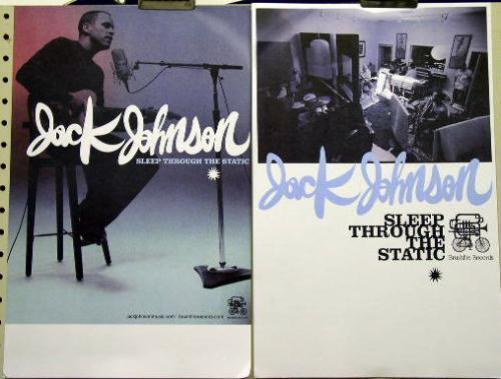 JACK JOHNSON 2008 sleep through the static 2 side poster Flawless New Old Stock