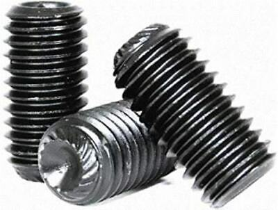 Set screws, Allen, Knurled cup point, Alloy steel black oxide finish free (Alloy Cup)