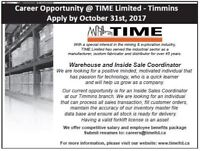 Inside Sales and Warehouse Coordinator