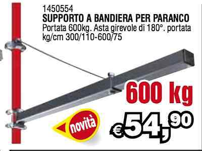 SUPPORTO ASTA A BANDIERA PER PARANCO BRACCIO MONTACARICHI 600 KG GIREVOLE VALEX