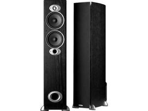 Polk Audio RTIA5 250W Tower Speaker - Pair (Black)