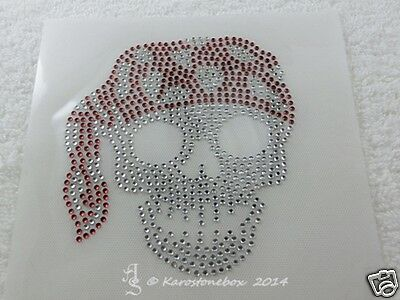 Hotfix  Strass Glas Bügelbild Pirat  Glas Skull Farbwahl 140418 - Bilder Piraten Kostüm