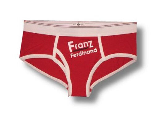Franz Ferdinand White And Red Pajama Panty New Small