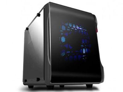 Spire microATX Gehäuse SPC715B ohne Netzteil mit Acryl Fenster
