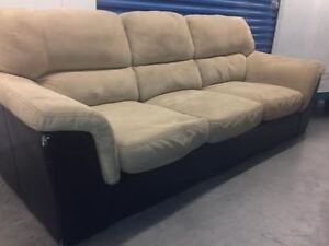 Microswayde / pleather Couch   -  DELIVERY