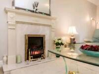 Marble Fireplace, with electric fire