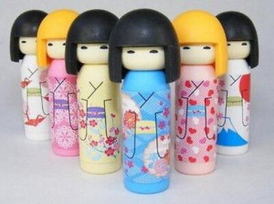 Japanese Iwako Erasers Set - Japanese Kokeshi Doll 6 pcs S-3559