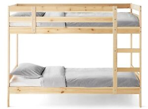 Wooden bunk bed and mattress for sale in perfect condition