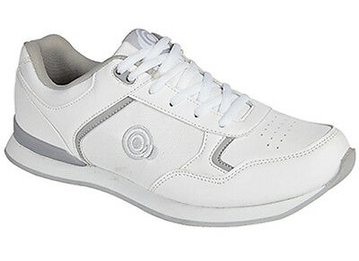 Mens Womans Unisex New White Lace Up Bowls Bowling Shoes Size UK 3 - 11
