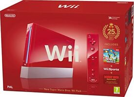 CHRISTMAS LIMITED EDITION RED WII