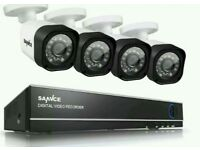 Complete 4 camera hd cctv system - brand new