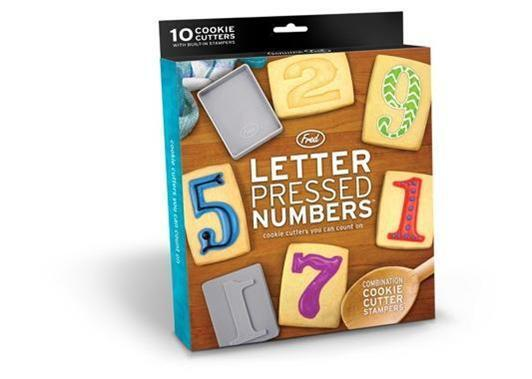 Letter Pressed Numbers Cookie Cutter Stampers all in One FRED 10 in all