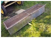 Vintage Decorative Cast Iron Water Trough ideal as a garden planter, decorative handles and rivets