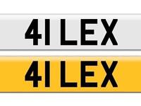 **Private Plate** 41 LEX / ALEX / /LEXY / LEXI / SAYS ALEX OR LEXI