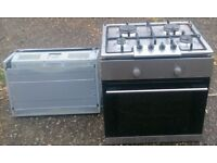 Electric oven cooker, with extractor and a gas hob, can deliver