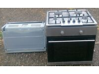 Electric oven, extractor and gas hob