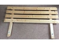 Handmade Pine Headboard ( for a double bed)