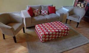 Two Tub Chairs & Two Seater Sofa, Beige Colour Delahey Brimbank Area Preview