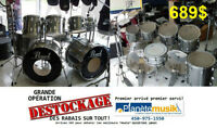 Opération *DESTOCKAGE* Batterie drum usagé PEARL EXPORT 8 MCX