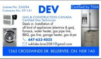 Gas Contractor / Gas Technician/ Applinces Installer