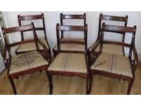 A lovely set of 6 matching antique style dining chairs