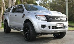 2014 Ford Ranger PX XLS Double Cab Silver 6 Speed Sports Automatic Utility Southport Gold Coast City Preview