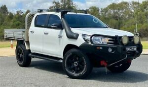 2015 Toyota Hilux GUN126R SR (4x4) White 6 Speed Automatic Dual Cab Chassis Cannington Canning Area Preview