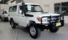 2013 Toyota Landcruiser VDJ78R MY12 Update GXL (4x4) White 5 Speed Manual TroopCarrier Condell Park Bankstown Area Preview