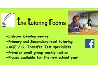 The Tutoring Rooms,Lisburn tutoring centre, Primary maths/English Transfer test AQE/GL,Special needs