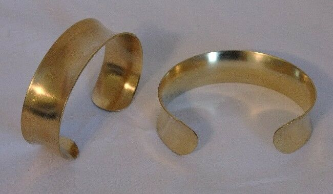 "Brass Bracelet Cuff Blanks Concave  3/4"" Pkg Of 2"