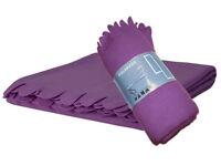IKEA Polarvide Purple Snuggly Soft Fleece Sofa Throw Blanket(130x170cm) .