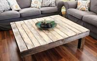 LAST DAY TO ORDER- BEAUTIFUL HANDMADE COFFEE TABLES