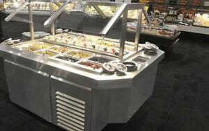 Refrigerated Stainless Steel Island Olive and Antipasto Bar