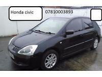 Honda civic 1.4 rear model in black with mot! drives very good