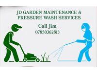 JD Garden Maintenance & power wash services