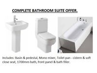 BRAND NEW COMPLETE OPTIONS BATHROOM SUITE