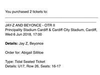 Beyoncé & Jay z on the run tickets