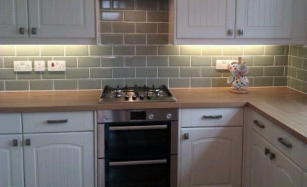 Sage Green Brickette Tiles