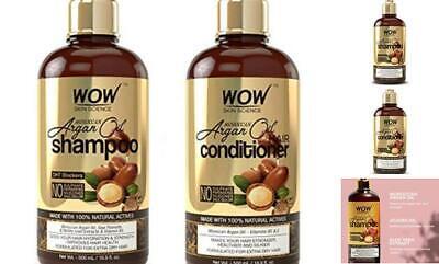 WOW Moroccan Argan Oil Shampoo & Conditioner Set (16.9 Fl Oz Each) Dry Repair