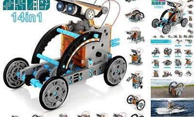 Solar Robot Kit for Kids, 14-in-1 Educational STEM Science Toy, Solar Power Buil