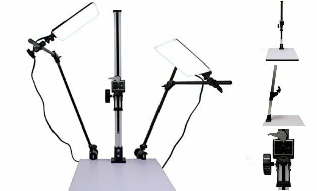High Load 28 inch Copy Macro Stand with 15.75 inch x 19 inch Base, Quick