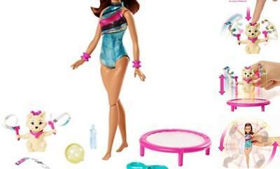 Dreamhouse Adventures Teresa Spin 'n Twirl Gymnast Doll, 11.5-Inch Brunette, in