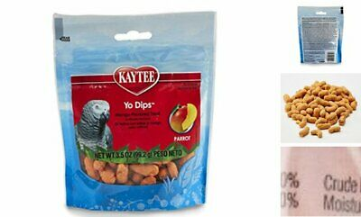 Kaytee Yogurt Dipped Mango Flavor Bird Birds Treat For Large Hookbills 3.5 Oz.  Large Bird Treat