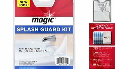 Bath Tub Splash Guard Water Shower Prevent Wet Shield Barrier Floor Bathroom -