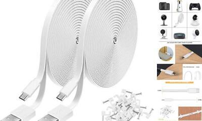 2 Pack 20FT Power Extension Cable Compatible With WyzeCam, Wyze Cam Pan, White - $20.55