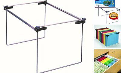 Smead Hanging File Folder Frame Adjustable Letterlegala4 Gray 1 Silver