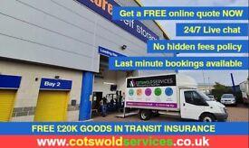 Man and Van, Cheltenham, Gloucester, Oxford, Swindon, Fully Insured, Van Hire