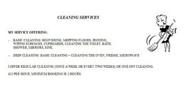 Honest and hardworking cleaner