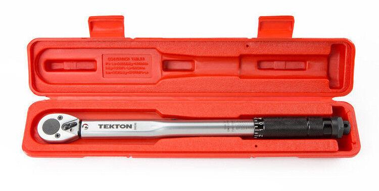 TEKTON 24330 38-Inch Drive Click Torque Wrench, 10-80 FootPo